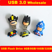 Hot Sale Batman USB 3.0 Flash Drive 32GB Lot Cartoon Heros Items Memory Storage 4GB 8GB 16GB Pen Drives Stick New Year Gift