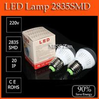 2pcs hot selling pk cob led lights High power led lamp E27 4w 5w 2835SMD AC220V Energy saving lamps office  lamp lighting