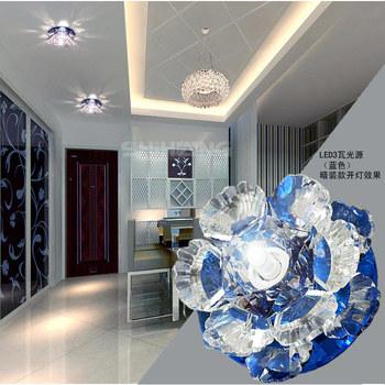 3W modern LED chandelier crystal corridor living room  lights lamp fixture AC85-265V luminarias home decoration abajur