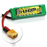 Free shipping 2200MAH 3S 40C MAX 80C 11.1V Helicopter NANO TECH LIPO PACK BATTERY HUNGER---RC03323