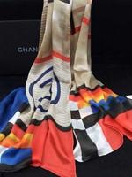 scarf women new 2014 fashion warm spring scarves silk rainbow print shawl/pashmina/cape/tippet/wrap brand for women