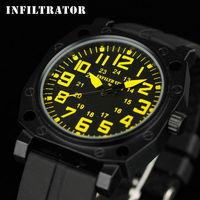 INFANTRY Men's Fashion Marine Corps Outdoor Silicone 24H Quartz Wrist Watch Clock Watches NEW 2015