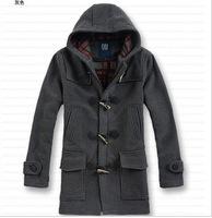 2014 New fashion winter outdoors mens hooded long parka coats casual Jacket matching men windbreak single-breasted jackets 923