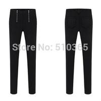 Women summer pant new 2014 fashion autumn plus size high OL career solid double zip Slim fashion lady leggings G501