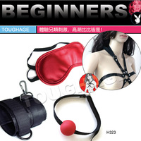 free shipping   handcuffing  Red sex leather fun hand cuffs for couples ,sex game set.  high quality adult product