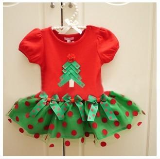 BD091, 2014 Christmas dress for girls summer children dresses short sleeve  cotton dot casual baby dress retail free shipping