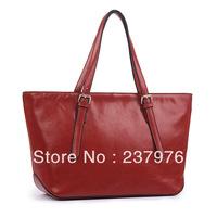 2013 hot plain big genuine leather lady's handbag genuine leather plain tote shoulder bag women's messenger bags quilted bags