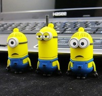 Promotion!!New Arrival Minions Creative 8GB-32GB despicable me usb 2.0 Flash drive thunder drive !!