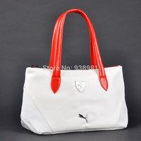 2013 New 4 colors Women Bags PU Free Shipping Fashion Brand Sport Bag Shoulder Messenger Bag Cylinder Gym Totes