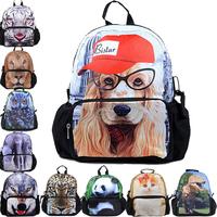 "12"" Children Backpack bags, cute kids School bags, top selling mochila, dog printed cute backpacks, new, Free Shipping"