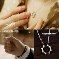 FREE SHIPPING~New Arrival Titanium Jewelry 18K Platinum /Rose Gold Plated Sun Secret Women/Men Necklace