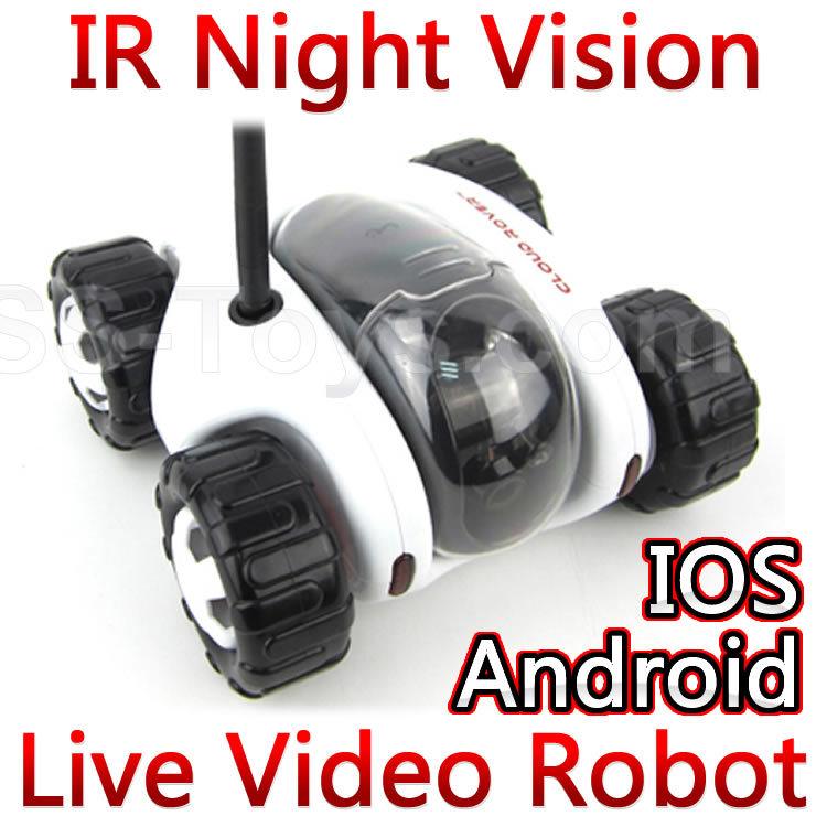 Vision nocturne nuage rover 4ch wifi, réservoiriphoneipad télécommande rc réservoir de voiture robot avec caméra. réel- time live vidéo fswb