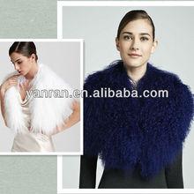 Factory Direct Sale YR-246 Women's High Quality Luxurious Mongolian Lamb Fur Collar(China (Mainland))