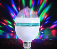 Free Shipping Mini LED Laser Stage Light Effect Crystal Magic Ball Colorful Bulb For KTV Private Party Room DJ Disco