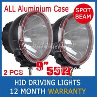 "PAIR 9 INCH 55W HID XENON DRIVING LIGHTS SPOTLIGHT BEAM OFF ROAD 9"" 4WD TRUCK LAMP 4000i SPOT BEAM Wholesale"