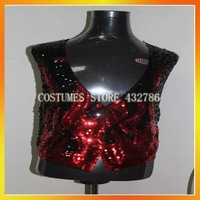 Free shipping Retail(1 pieces)and Wholesale Men's Costumes Red Sequin Magician Fancy Costumes Carnival Costumes JSMC-1478
