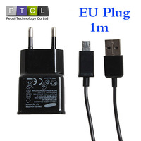 USB data Sync micro Mobile phone Cable EU plug Wall Charger For HTC Samsung Galaxy S3 I9300 ,I9100 I9500  Direct shipping