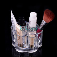 Hot Fashion Makeup Case Lipstick Holder Acrylic Cosmetic Jewelry Display Organizer Storage Free Shipping