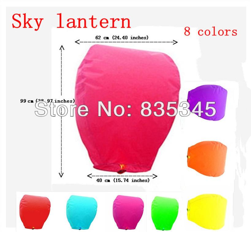 10 Pcs good quality Oval Sky lantern / 8 Colors Choose Prayer Lantern / Hot air balloon / day Light / Fixed Fuel CE, RHOS(China (Mainland))