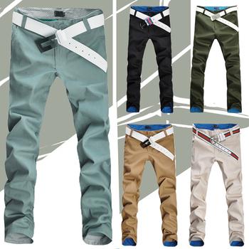 2015 новый горячие мужские джинсы свободного покроя прямые брюки мужчины тонкий подходят весна осень джинсовые длинные брюки брюки 8 размеры 6 цвета #