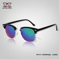 High Quality With Logo 2014 Retail Men & Women Brand Retro Sunglasses Vintage Inspired Elegant Metal Star oculos Sun Glasses