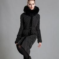 New 2014 Winter Jacket Women Long Plus size 6XL Large Fox Fur Collar Thickening White Duck Down Coats Women's Down Jackets Parka
