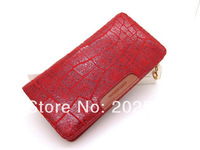 Christmas gifts 2014 fashion women's red genuine leather brand wallet ladies long design cowhide purse clutch female money clip