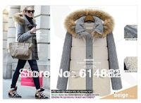 New 2013 Woman Coat Large Size Fur Coat Women Winter Cotton -padded Jacket Thicken Wholesale CL223
