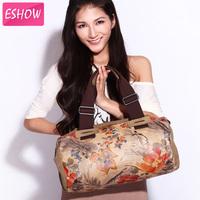 ESHOW Women Canvas Flower Printing Handbag Shoulder Bag Messenger bags BFK010091
