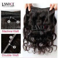 Malaysian Virgin Hair Body Wave Mixed 3/4Pcs Lot Natural Black Cheap Remy Human Hair Weaves Landot Hair Products Free Shipping