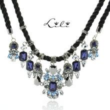 2014 New Fashion Gorgeous Brand Rhinestone Necklace Choker Statement Necklaces & Pendants Design Pendant  Colar Women Jewelry(China (Mainland))