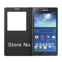 For Samsung Galaxy Note 3 III N9000 N9005 N9006 Sansung Original S-View Flip Leather Back Cover Cases Auto wake/sleep function