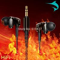 Free shipping KZ-ANV mobile phone earphones without microphone wire heatshrinked in ear headset earphones high quality