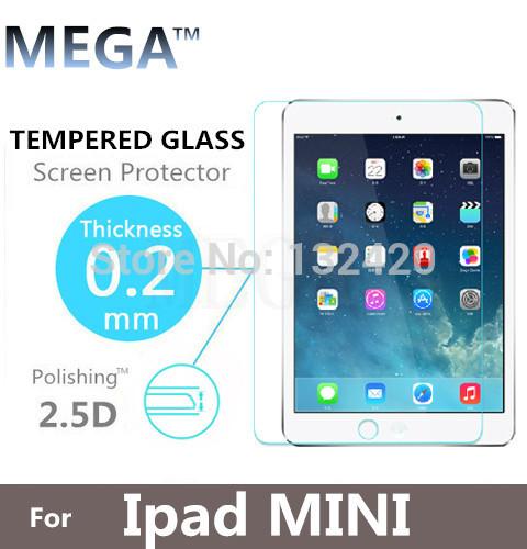 Free Shipping ! High Quality Premium Real Tempered Glass Film Screen Protector for iPad mini & mini Retina(China (Mainland))