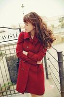designer brand Europe big Rose Bud warm coat jacket coat of seven female leaders dresses new fashion 2014 evening new arrivals