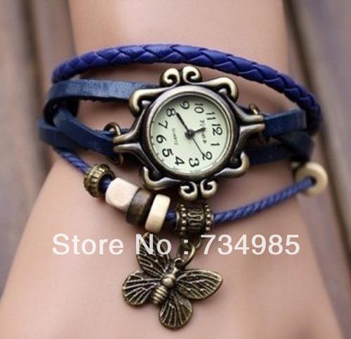 женщин натуральной кожи strape старинные часы