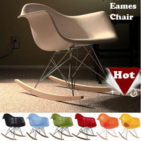 Hot,Metal furniture,Eames plastic side chair,Eames Rocking Chair,Modern Leisure Chair stools,wood dining bar Chair, Office Chair