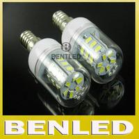 E14 5730 LED Crystal chandelier lighting Warm white/white 220v SMD 5730 9W E14 LED bulb lamp 24 leds wall light,free shipping