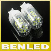 2014 6pcs/lot New arrival Warm white/white 220v SMD 5730 9W G9 LED chandelier bulb lamps, 24 leds,Book light,led lighting