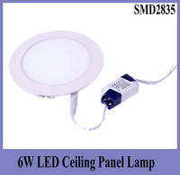 6W 120*120mm Save Energy Round Led Ceiling Light 390Lm AC90-265V SMD2835 Warm White/Cold White Decorating Lamp 30pcs