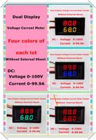 Green/blue/yellow/red+Red dual Display voltage current meter 0.28 DC0-100V/100A Digital Ammeter Voltmeter No shunt [4 pcs/lot]