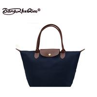 2014 new fashion Women leather Handbags  waterproof folding dumplings tote women's messenger bags single shoulder bag M Size