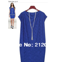 2013 fashion high quality elegant casual  women big size loose 3XL 4XL 5XL  plus size sleeveless slim one-piece dress