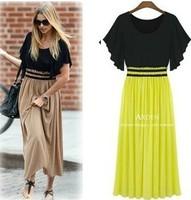 2013 fashion plus size clothing mm short-sleeve slim waist plus size long skirt S,M,L,XL,XXL,XXXL,XXXLXXXXL,free shipping