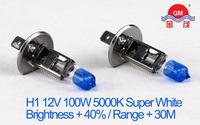 Xenon  H1 12V 100W Super White Car Headlights 3800K X-treme Car Light Bulbs Emark Halogen Lamp Free Shipping 2pcs