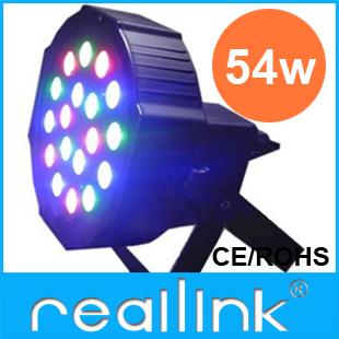 Reallink RGB DMX 512 Stage Lights Business Lights Led Flat Par High Power Light with Professional for Party KTV Disco DJ(China (Mainland))