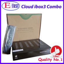 En la acción !!! Nube Ibox 3 ibox Nube 3 HD TV vía satélite de Linux OS gratuito IPTV Streaming Canales sintonizador gemelo envío gratuito(China (Mainland))