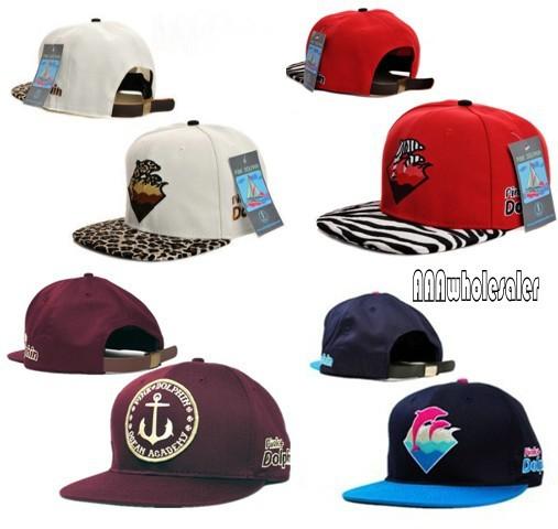 New 2015 fashion pink dolphin Snapbacks brand baseball caps strapback leopard Pink Dolphin Waves Sport Hats For Men Women(China (Mainland))