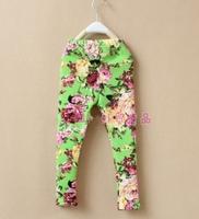 aoth10 New 2014 frozen girls leggings fleece warm 3-8 age kids leggings winter tights 5pcs/ lot free shipping