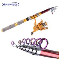 Sougayilang  Superhard power Hand Carbon Spinning Taiwan Carp Lure Sea Rod Fishing Tackle Telescopic Fishing Rod